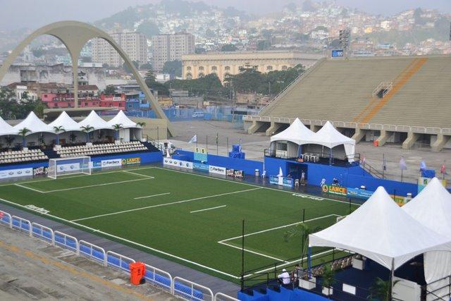 A Praça da Apoteóse já foi palco das finais da primeira edição da LIGA FUT7.