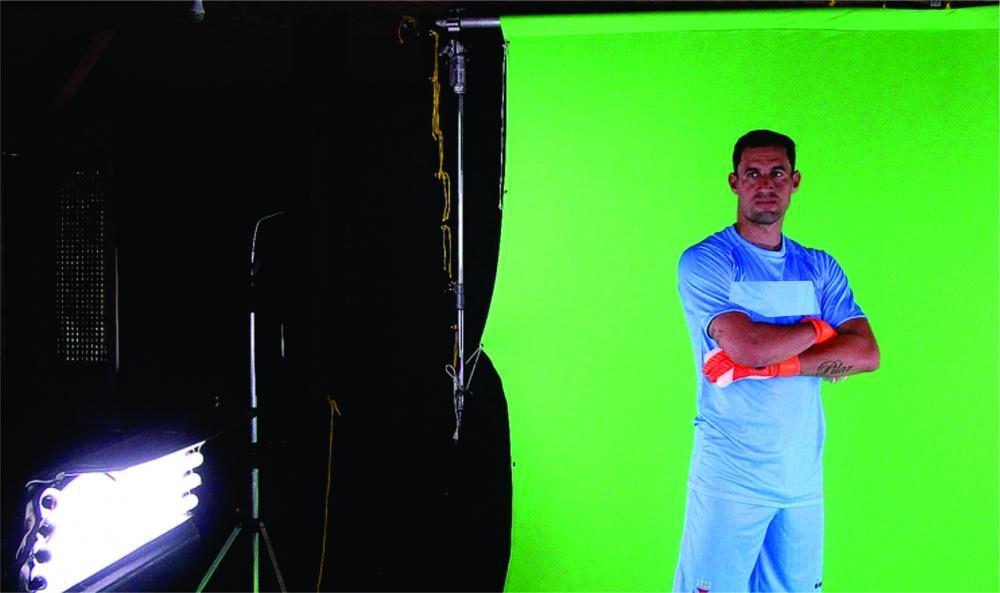 Atletas passarão por ensaio de fotos e vídeos